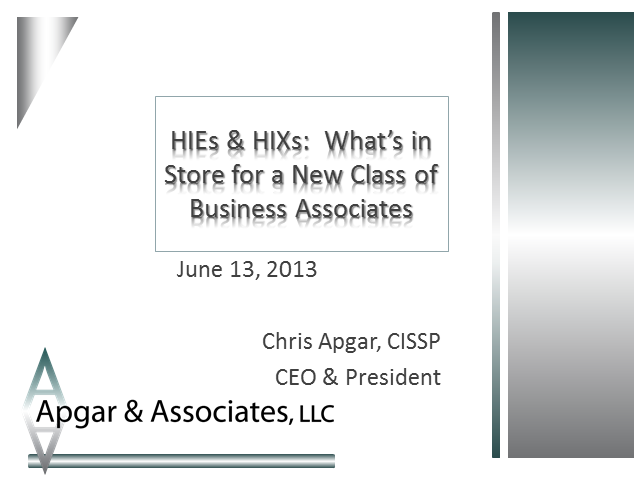 HIEs & HIXs:  What's in Store for a New Class of Business Associates