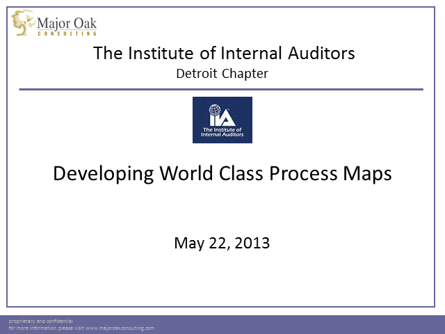 Developing World Class Process Maps