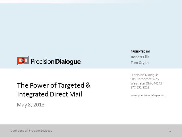 The Power of Targeted and Integrated Direct Mail