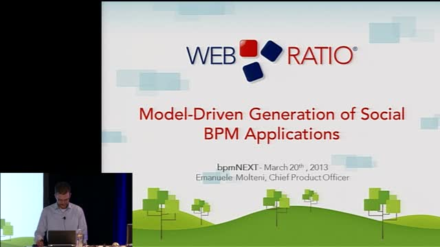bpmNEXT 2013: Model-Driven Generation of Social BPM Applications