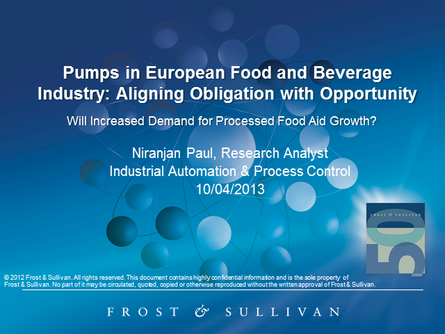 Pumps in European Food and Beverage Industry: Aligning Obligation