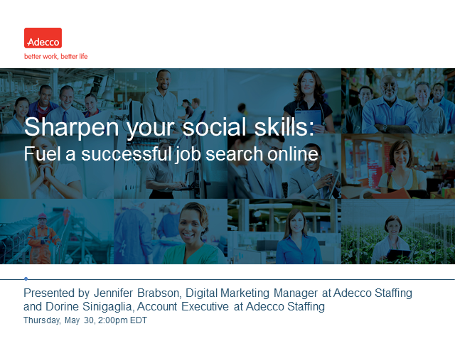 Sharpen your social skills: Fuel a successful job search online