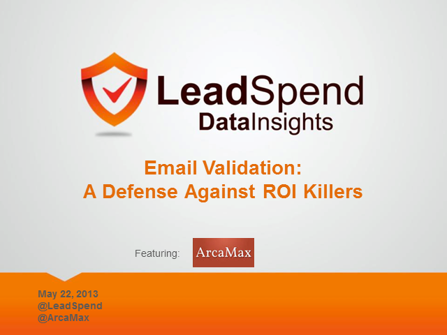 Email Validation: A Defense Against ROI Killers