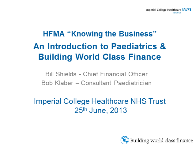 Knowing the Business - Introduction to Paediatrics