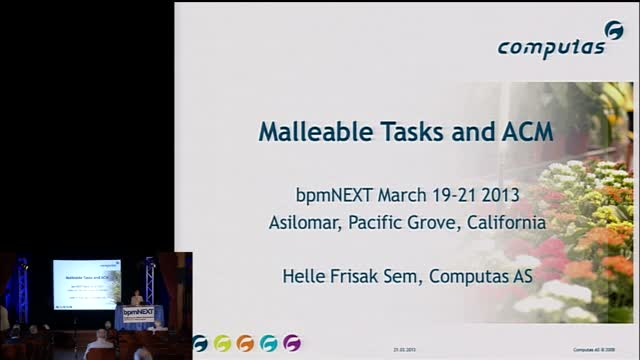 bpmNEXT 2013: Malleable Tasks and ACM