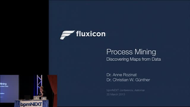 bpmNEXT 2013: Process Mining: Discovering Process Maps from Data