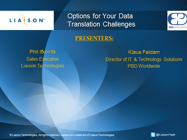 Options for your Data Translation Challenges