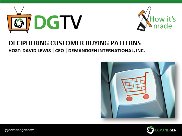 Deciphering Customer Buying Patterns