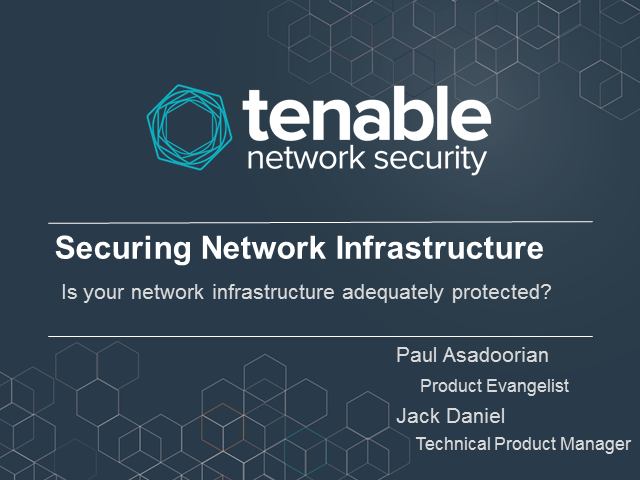 Is your Network Infrastructure Adequately Protected?