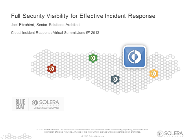 Full Security Visibility For Effective Incident Response