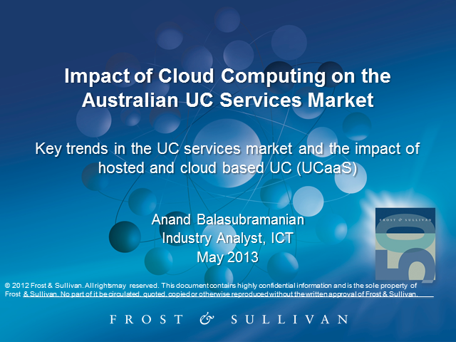 Impact of Cloud Computing on the Australian UC Services Market