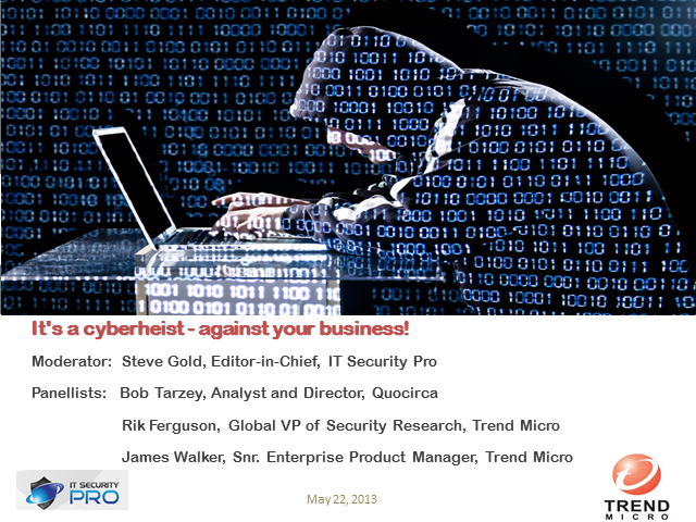It's a cyberheist - against your business!