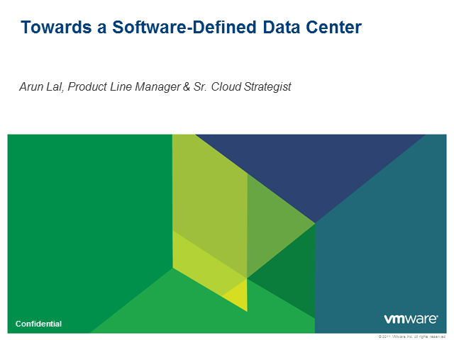 Toward the Software-Defined Data Center