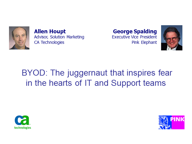 BYOD: The juggernaut that inspires fear in the hearts of  IT (1 PriSM CPD)