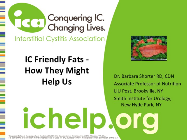 IC Diet: Friendly Fats