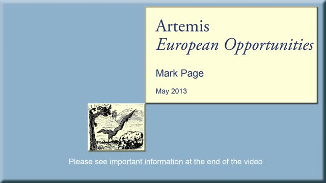 Artemis European Opportunities Fund - May 2013