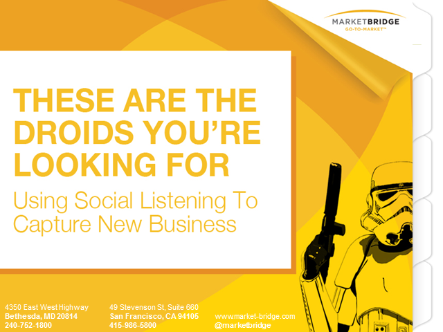 These Are the Droids You're Looking For – Social Listening Captures New Business