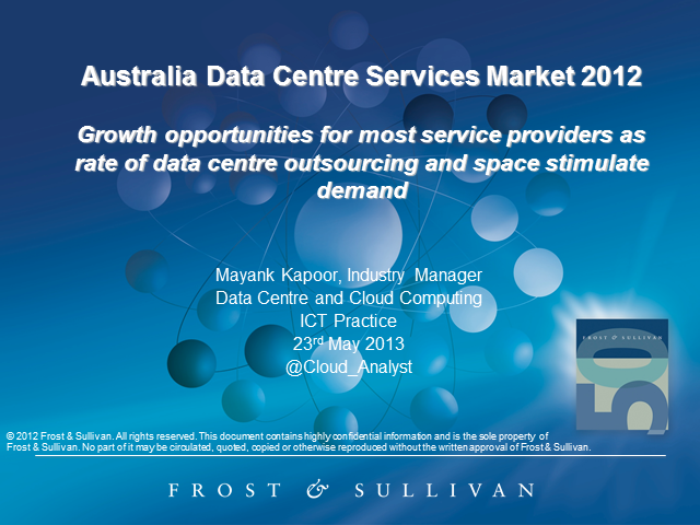 Australia Data Centre Services Market 2012