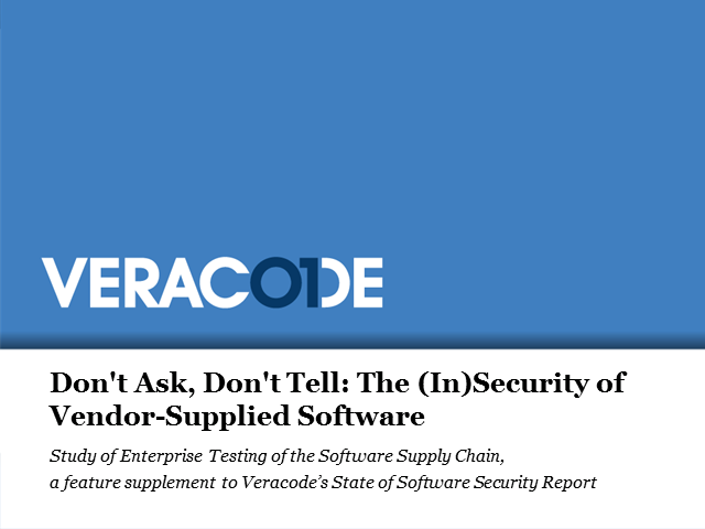 Don't Ask, Don't Tell: The (In)Security of Vendor-Supplied Software