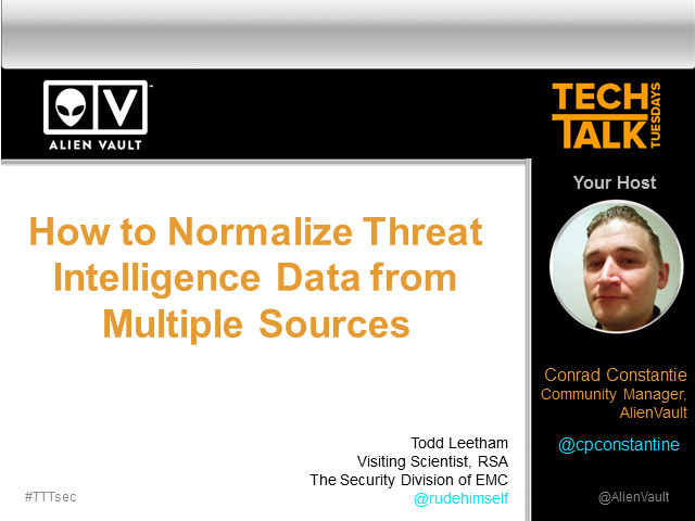 How to Normalize Threat Intelligence Data from Multiple Sources- Tech Talk