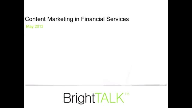 Creating Compelling B2B Content in Financial Services and Tracking ROI