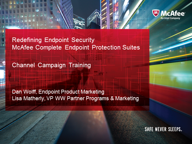 Redefining Endpoint Security with McAfee
