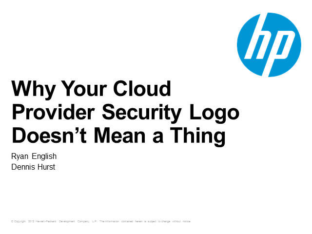 Why Your Cloud Provider Security Logo Doesn't Mean a Thing