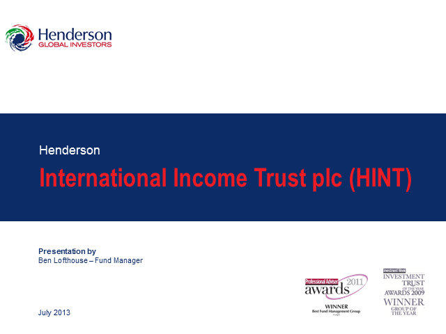 Henderson International Income Trust plc