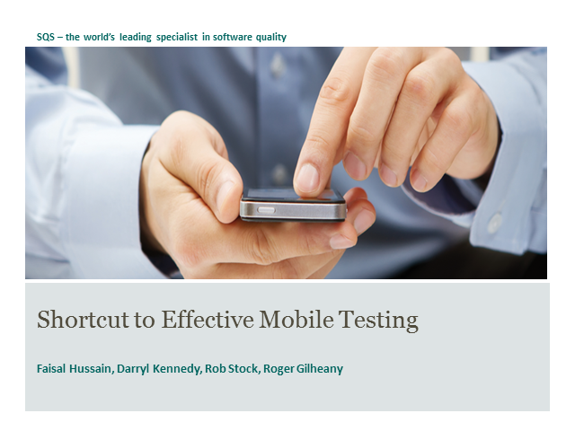 Effective Mobile Testing