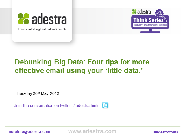 Debunking Big Data: Four tips for more effective email using your 'little data.'
