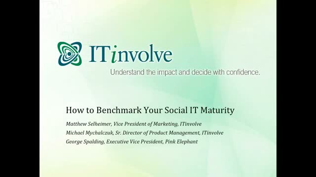 How to Benchmark Your Social IT Maturity