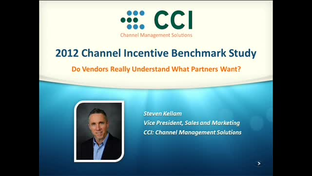 Channel Incentive Benchmark Survey Results Webinar