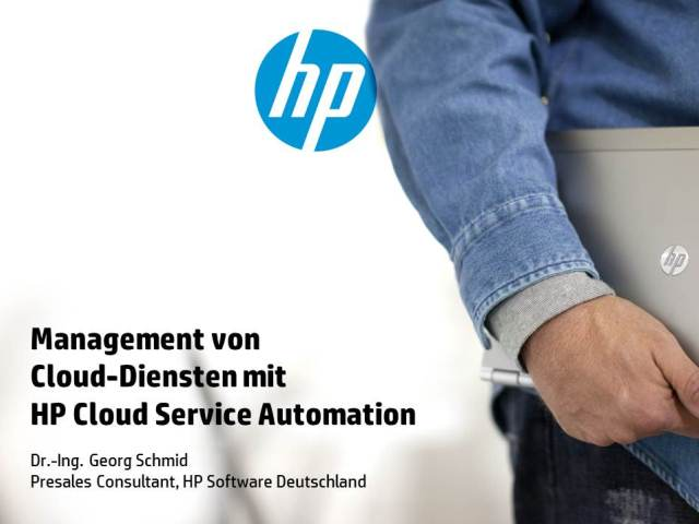 Management von Cloud-Diensten mit HP Cloud Service Automation