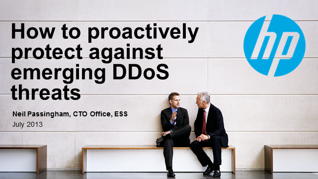 How to proactively protect against emerging DDoS threats