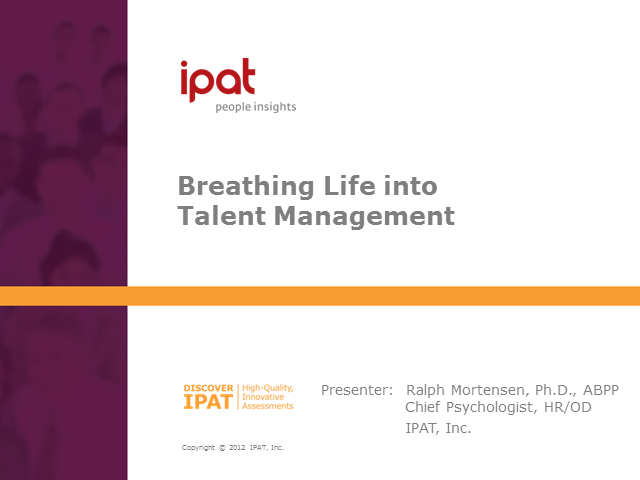 Breathing Life into Talent Management