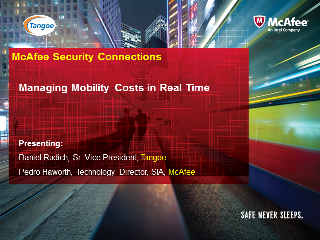 Managing Mobility Costs in Real Time