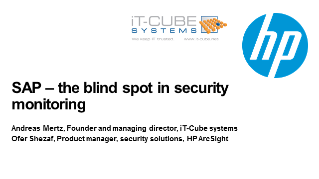 SAP – The blind Spot in Security Monitoring