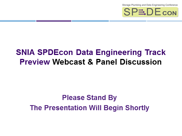 SPDEcon Data Engineering Preview