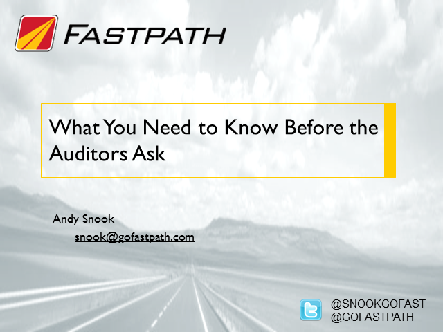 What You Need to Know Before the Auditors Ask
