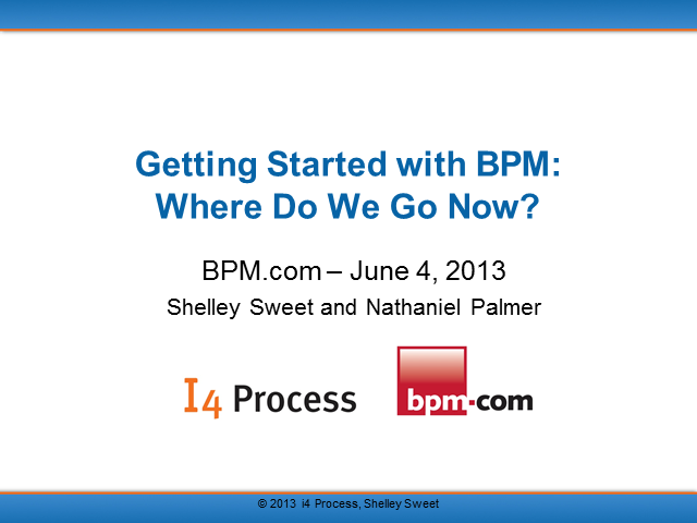 Getting Started With BPM: Where Do We Go Now?