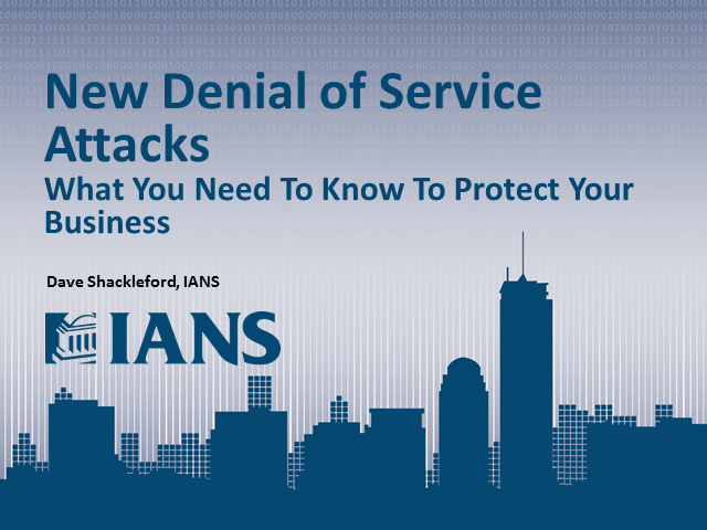 "The New ""Denial of Service"" Attack: Why You May No Longer be Protected"