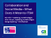 Collaboration and Social Media: What does it mean to ITSM? (1 priSM CPD)