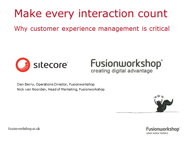 Make every interaction count – why customer experience management is critical