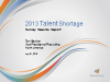 The 2013 Talent Shortage