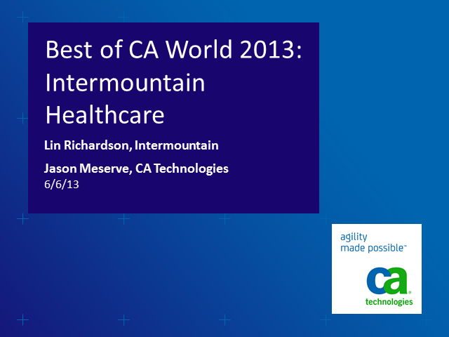 The Best of CA World: How CA APM Helps Customers Drive Biz Service Reliability