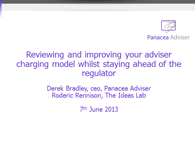 Improving your adviser charging model whilst staying ahead of the Regulator