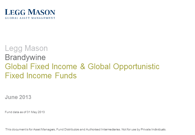 Legg Mason Brandywine Global Fixed Income & Opportunistic Fixed Income Funds