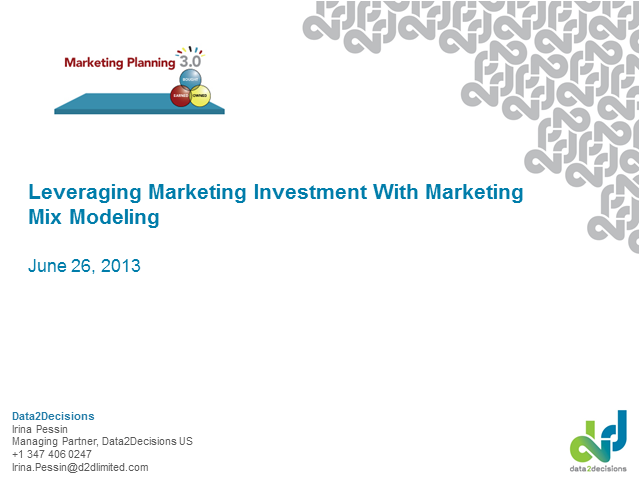 Leveraging Marketing Investments with Marketing Mix Modeling