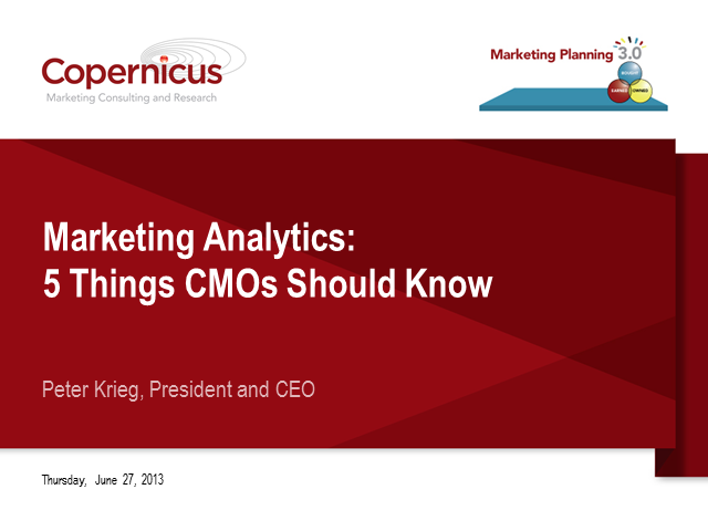 Marketing Analytics: 5 Things Every CMO Should Know
