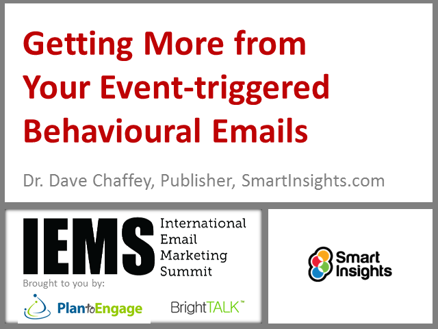 Getting More from Your Event-triggered Behavioural Emails